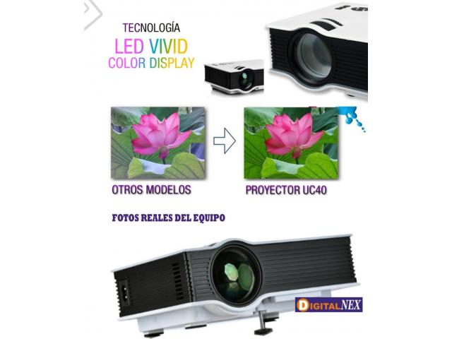 Mini Proyector Led 800 Lumens Hdmi Usb 1080P - 2/2