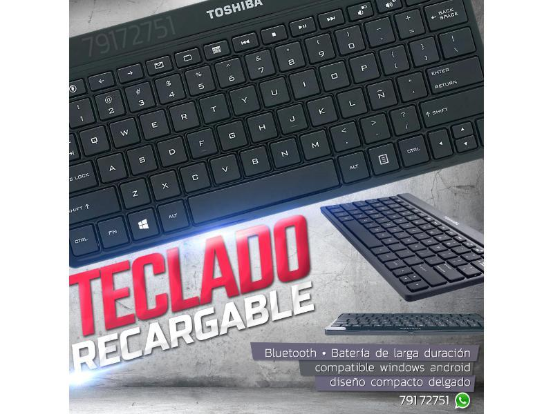 Teclado Recargable Bluetooth Inalámbrico Windows Android - 1/1