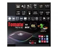 TV BOX TOMATE 6K ANDROID 9, 2GB RAM Y 16GB MEMORIA INTERNA