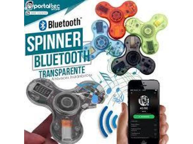 Spinner Bluetooth Luminoso Transparente - 1/2