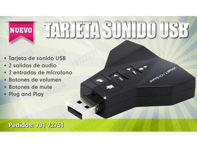 TARJETA DE SONIDO USB EXTERNA - 1/1