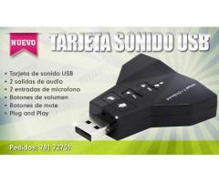 TARJETA DE SONIDO USB EXTERNA