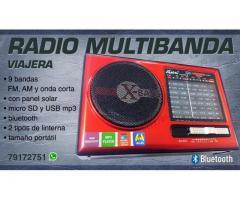 VENDO RADIO MULTIBANDA VIAJERA FM AM Y ONDA CORTA
