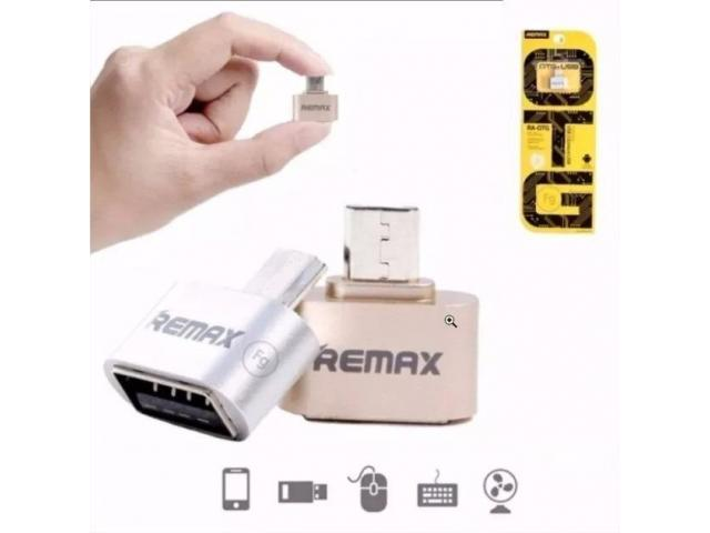 ADAPTADOR OTG USB A MICRO USB  REMAX ALTA CALIDAD - 1/2