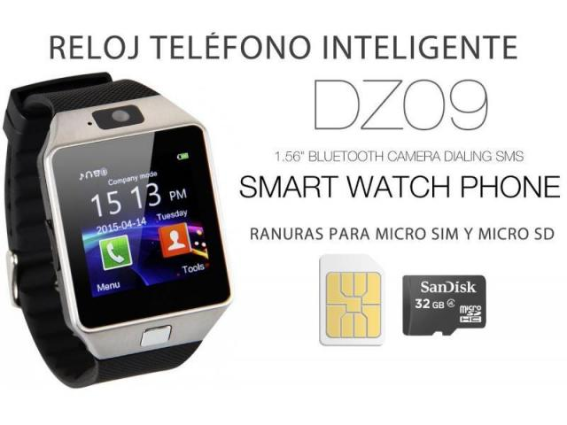 SMARTWATCH DZ-09 C / CÁMARA- CHIP- MICRO SD - 1/2