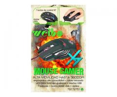 Mouse Gamer con 7 Botones Luminoso, Cable Reforzado