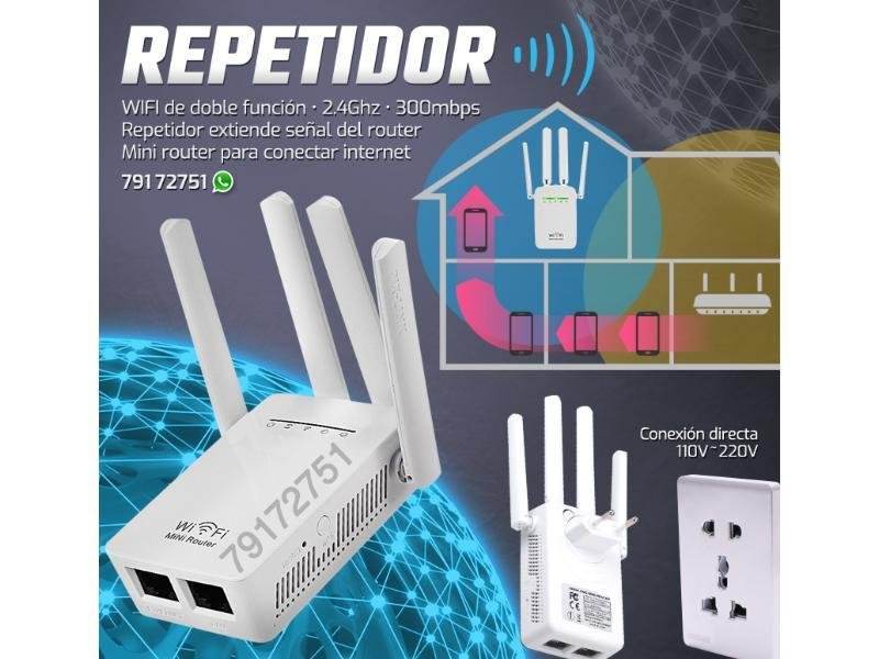 Repetidor Router WIFI 4 Antenas - 1/1