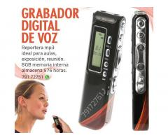 Grabador digital de voz - Reportera mp3