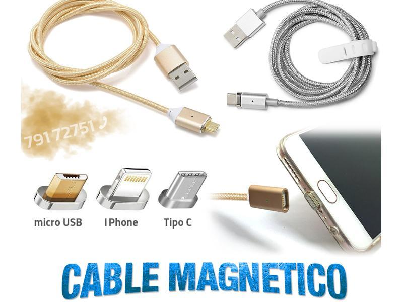 Cable Magnetico para celulares Micro Usb iPhone Tipo C - 1/1