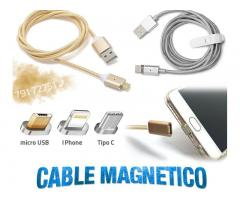 Cable Magnetico para celulares Micro Usb iPhone Tipo C